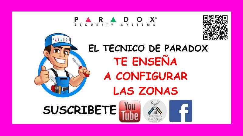 CONFIGURAR ZONAS PARADOX