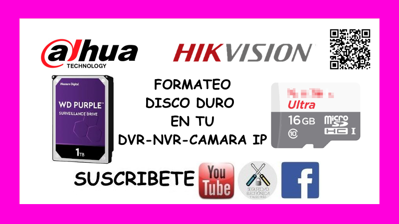 FORMATEAR HDD DAHUA-HIKVISION