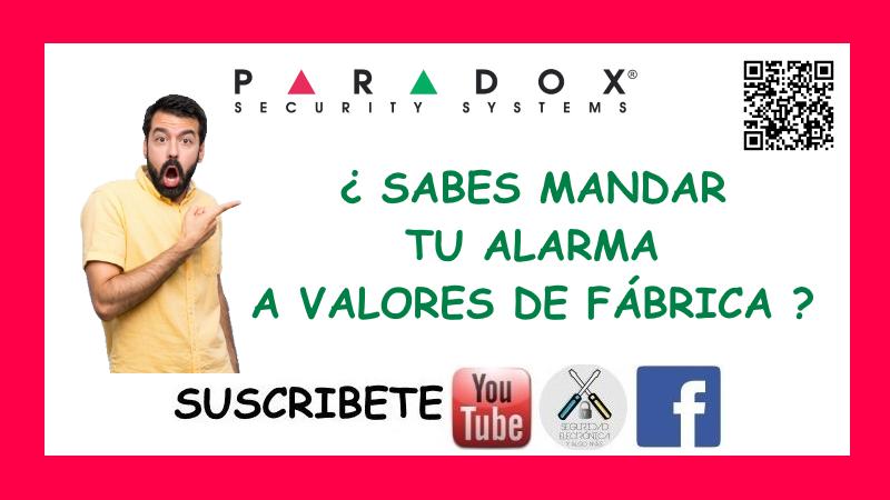 VALORES DE FABRICA PARADOX