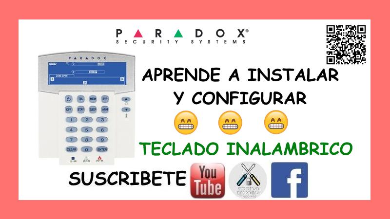 TECLADO INALAMBRICO PARADOX